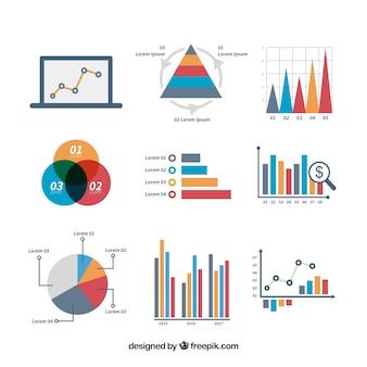 Zabawny zestaw elementów infograficznych