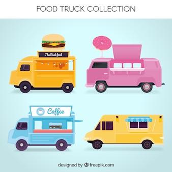 Zabawny zestaw uroczych foo ciężarówek