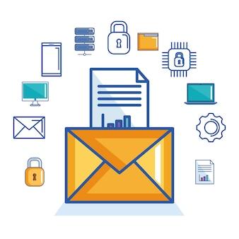 Zabezpieczenie dokumentu wiadomości e-mail w postaci cyfrowej