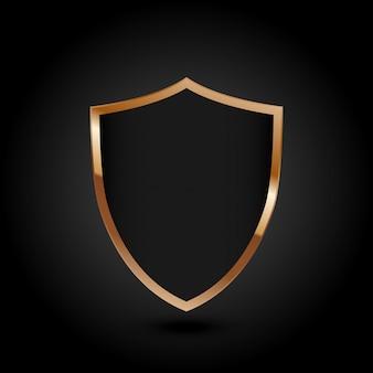 Zabezpieczona koncepcja ochrony tarczy ochronnej bezpieczeństwo cyber cyfrowa technologia abstrakcyjna