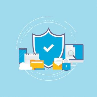 Zabezpieczone informacje, prywatność danych i ochrona online