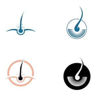 Zabiegi na włosy logo wektor ikona obrazu