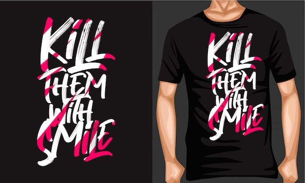 Zabij ich typografią w stylu pędzla z uśmiechem