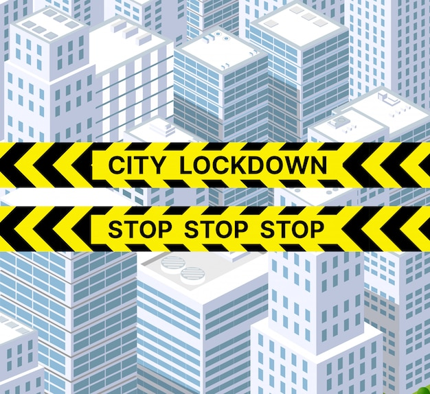 Zablokowane miasto blokady jest zakazane