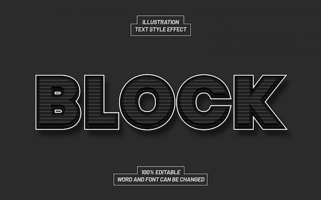 Zablokuj efekt stylu tekstu czarno-białego