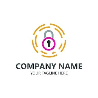 Zablokuj logo firmy ochrony ilustracji