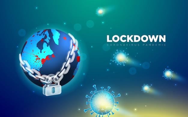 Zablokuj tło koronawirusa pandemicznego 2019