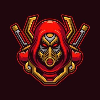 Zabójca głowy z koncepcją maski