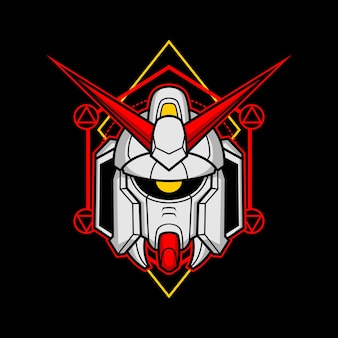 Zabójcza głowa robota o świętej geometrii 8