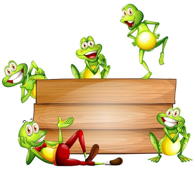 Żaby i znak