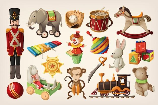 Zabytkowe zabawki i lalki