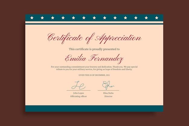 Zabytkowy certyfikat uznania weterana