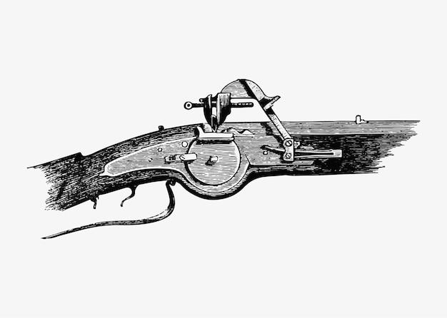 Zabytkowy pistolet na blokadę koła