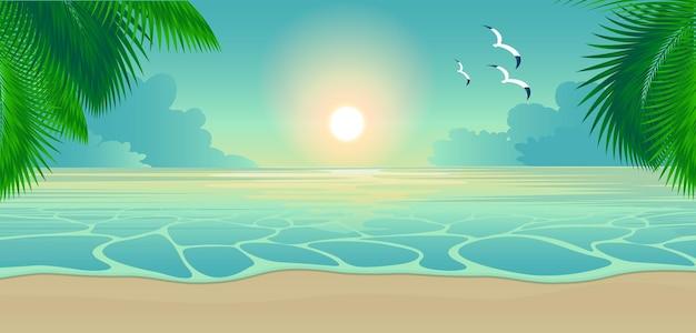 Zachód słońca na tropikalnej wyspie