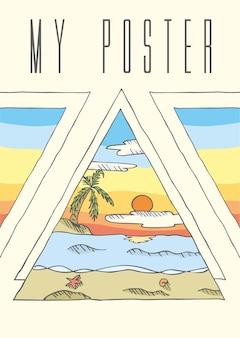 Zachód słońca plakat