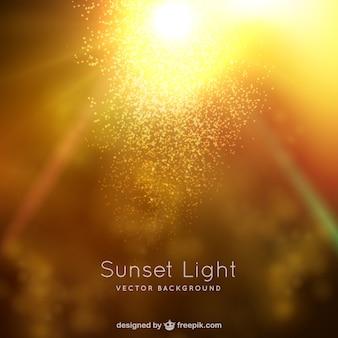 Zachód słońca światła w tle