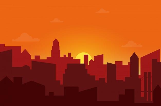 Zachód słońca w mieście