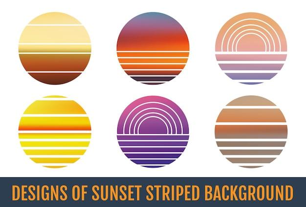 Zachód słońca w paski tła zachód słońca w paski