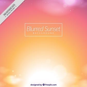 Zachód słońca w tle z efektu rozmytych