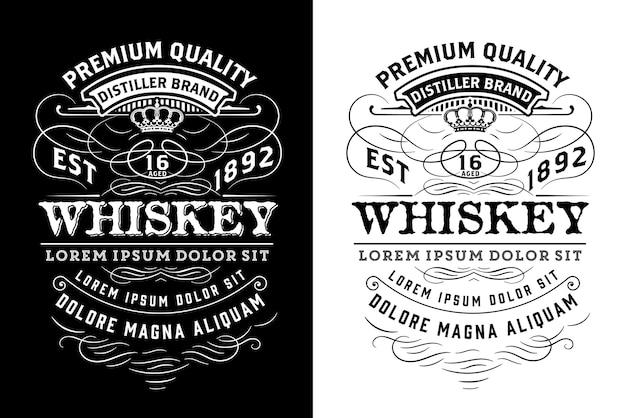 Zachodnia etykieta dla whisky lub innych produktów