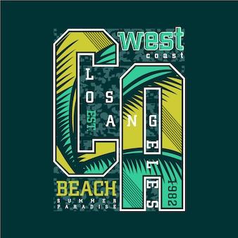 Zachodnim wybrzeżu los angeles beach projekt graficzny streszczenie tło