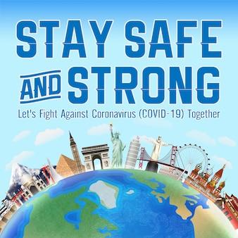 Zachowaj bezpieczeństwo i walcz razem koronawirusem