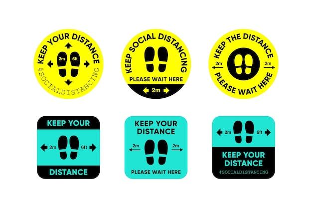Zachowaj dystans - kolekcja znaków