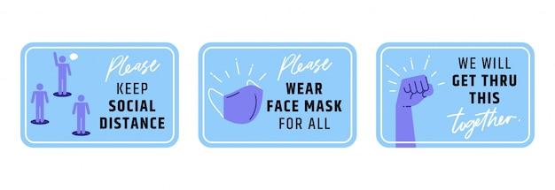 Zachowaj ikonę społecznego oznakowania odległości.