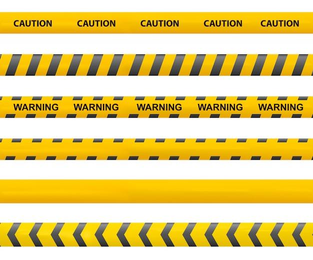Zachowaj ostrożność taśmy