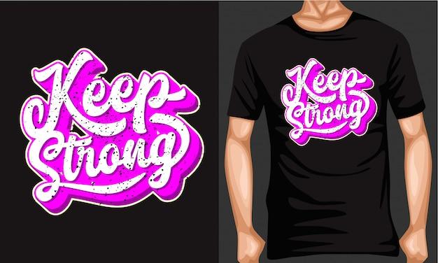 Zachowaj silną typografię