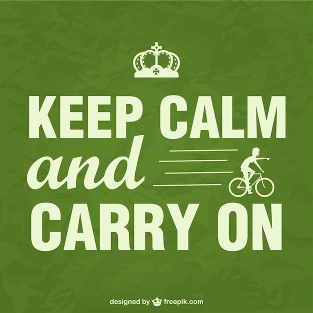Zachowaj spokój rower plakatu