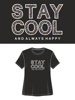 Zachowaj spokój typografii na koszulce z nadrukiem
