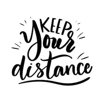 Zachowaj swój napis na odległość