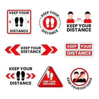 Zachowaj swoją kolekcję znaków odległości