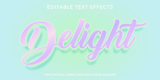 Zachwyt edytowalny efekt tekstowy