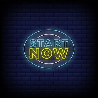Zacznij teraz projekt tekstu w stylu neonów
