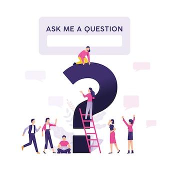 Zadaj mi pytanie ilustracji wektorowych