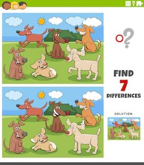 Zadanie różnice z grupą postaci psów