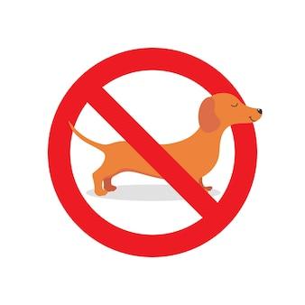 Żadnego psa nie wolno znak