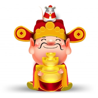 Zadowolony chińczyk nowy rok znaków