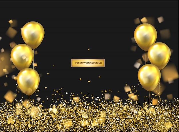 Zadowolony urodziny balony tło