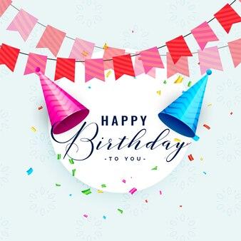 Zadowolony urodziny celebracja karta projekt