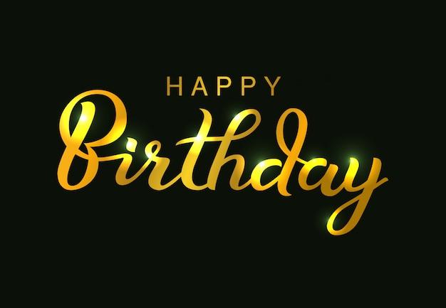 Zadowolony urodziny design typograficzne wektor