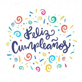 Zadowolony urodziny koncepcja napis