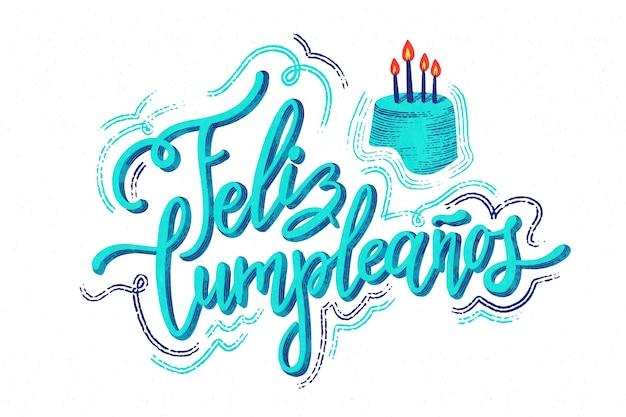 Zadowolony urodziny napis koncepcja