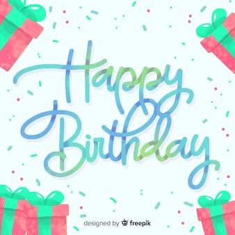 Zadowolony urodziny napis tło projektu