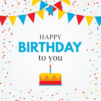 Zadowolony urodziny prosta karta