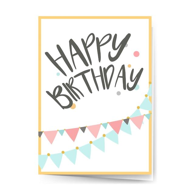Zadowolony urodziny wektor wzór karty