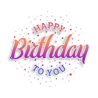 Zadowolony urodziny wektor wzór typografii na kartki z życzeniami i plakat, szablon projektu na obchody urodzin.