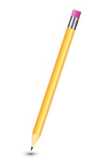 Zadziwiający odosobniony ołówek na czystym białym tle